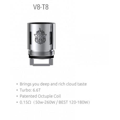 Smok TFV8  V8-T8 Octuple Ersatz Coils 0.15 Ohm, 3 Stück
