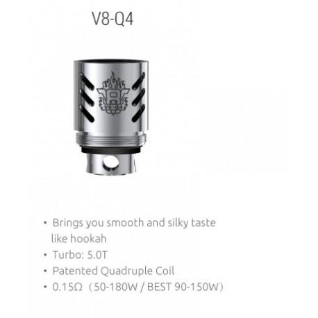 Smok TFV8  V8-Q4 Quadruple Ersatz Coils 0.15 Ohm, 3 Stück