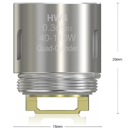 Eleaf HW4 Quad Cylinder 0,3 Ohm, 5 Stück
