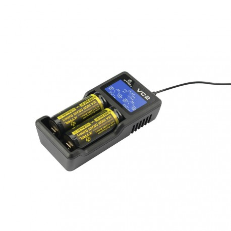 Xtar VC2 - Ladegerät für Li-Ion Akkus 3,6V - 3,7V incl. USB Kabel