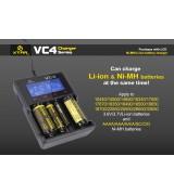 Xtar VC4 - Ladegerät für Li-Ion Akkus 3,6V - 3,7V und NIMH Akkus incl. USB Kabel